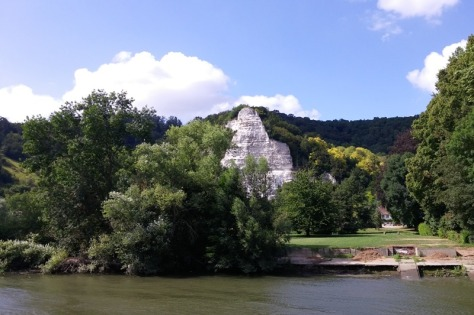 River Seine limestone cliffs
