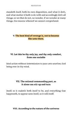 Meditations sample page