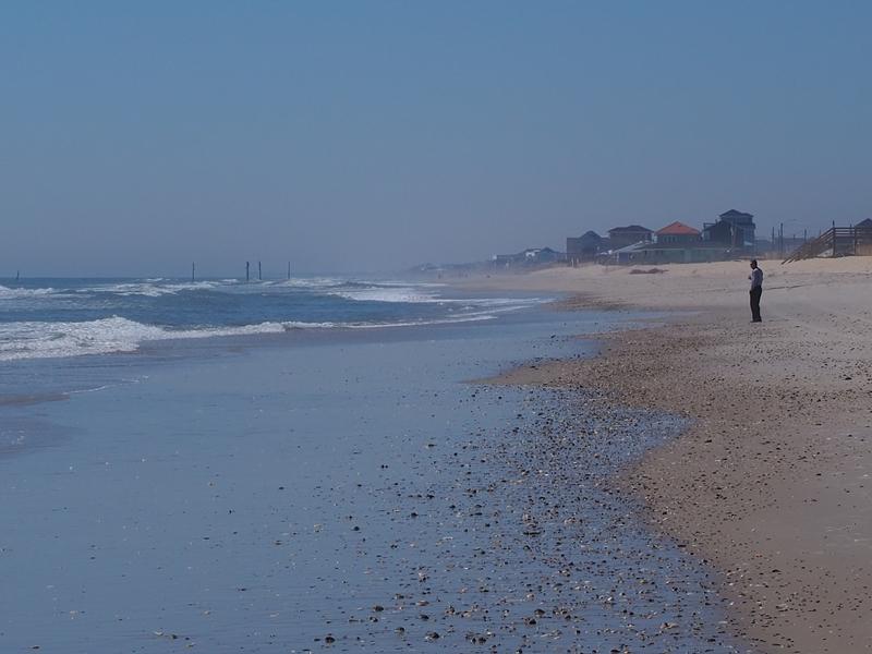 Hazy beach at N Topsail Beach, NC
